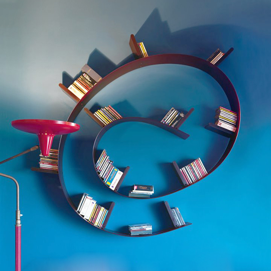 Interesting Bookshelves by Kartell