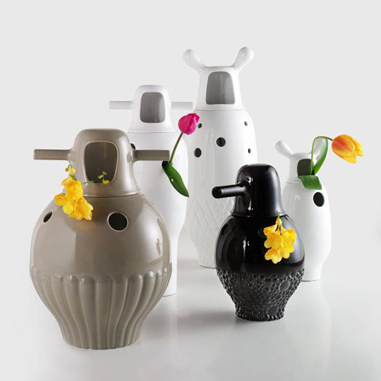 Contemporary Porcelain Vases by Jaime Hayon